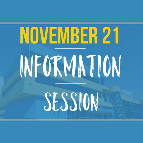 Join us for our November 21 Information Session
